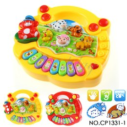 Wholesale Baby Nursery Toys - CP1331-1 Wholesale Baby Kid's Animal Farm Mobile Piano Smart Music Toy Electric ENGLISH Early  Christmas Gift