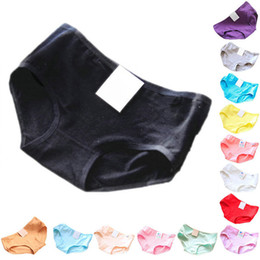 Wholesale Pink Cotton Knickers - Wholesale-Factory Price! Women Cotton Underwear Briefs Panties Knickers Lingerie Candy Color