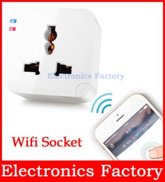 Wholesale Wholesale Cell Phone Booster - Wireless Wifi Remote Control AC Power Plug Wall Socket Booster Intelligent Device Switch Andoid ios Cell Phone App