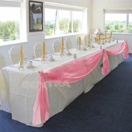 Wholesale Table Swags For Weddings - 2014 New Practical Event Party Supplies 5M*0.5M Table Swags for Wedding Party Decoration Pink