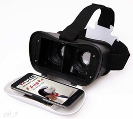 Wholesale Mobile Theater Glasses - VR-BOX VR case + remote bluetooth controller 3D virtual realuty glasses mobile home theater 2016 VR Glasses Google Cardboard