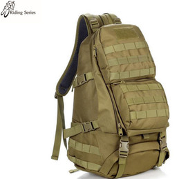 Wholesale Nude Packing - Nylon Backpack 50L Emergency pack Waterproof Travel shoulder bags Camouflage solid color 3D Tactical Neutral   both men and women Nylon Back