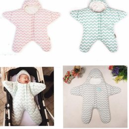 Wholesale Baby Swaddle Sack - Newborn Baby Sleeping Bag Swaddling Blankets Cute Starfish Sleep Sacks Clothing baby Nursery Bedding Sleep Sack KKA3489