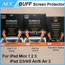 Wholesale Shock Absorption Screen Protector - BUFF Ultimate Explosion-proof Shock Absorption Classic Crystal Clear Screen Protector Guard For iPad 2 3 4 iPad Air 5 Mini 1 2 3 Retina 50pc