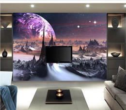 Wholesale Universe Factory - Large mural papel de parede universe Landscape painting backdrop wall sticker wholesale Factory Direct FREE SHIPPING7865a!!!