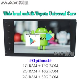 """Wholesale Old Chinese Mobile - 7"""" Android 6.0 Car DVD Player for Toyota Terios Old Corolla Camry Prado RAV4 Universal with DAB+ BT 4G WIFI SWC GPS"""