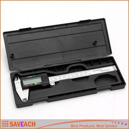 """Wholesale Vernier Caliper Box - 150MM Electric 6"""" Stainless Steel Digital Vernier Dial Caliper Gauge Micrometer with retail box free shipping"""