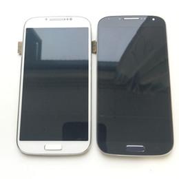 Супер AMOLED ЖК-дисплей с сенсорным экраном дигитайзер + рамка для Samsung Galaxy S4 Mini i9190 i9195 черный белый с закаленным стеклом DHL логистики от
