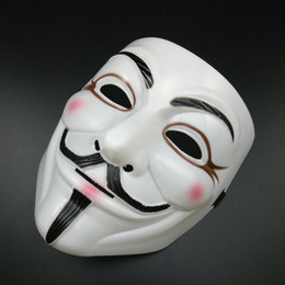 Wholesale Vendetta Masks For Sale - on sale White V Mask Halloween Masks Sexy Eyeline Anonymous Vendetta Party mask Guy Fawkes Mask Full Face Horror mask super Scary