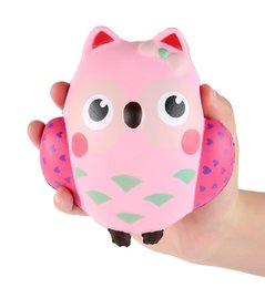 Wholesale Owl Toys - Decorative Props Large Squishy Kawaii Cute Owl Squishies Slow Rising Decompression Squeeze Toys For Kids or Stress Relief Toy Hop Props