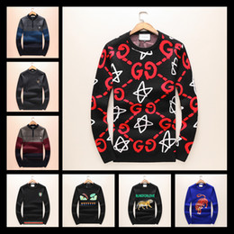 Wholesale Thin Lace Sweater - Luxury Brand Mens Sweaters Very Cool Man Manual Nailing Men Little Monster Long Sleeve Fashion Sweater Wool Clothing SIZE M-3XL