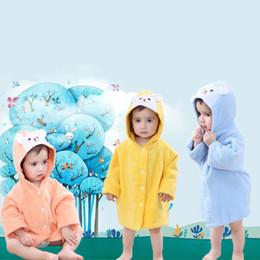 6Pcs lot Baby Kids Cartoon Animal Rabbit Bath Robes Toddler Boys Girls  Hooded Bath Towel Cotton Untwisted Yarn Children Bathrobe Nightgown 1fff8bdcd