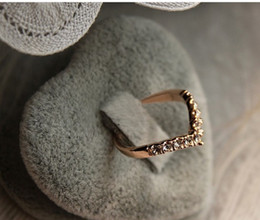 Wholesale Heart Shaped Ring Rhinestone Crystal - 2015 Women's Sale Rings Promotion 4 Women's Ruby Jewelry R002 Mutual Affinity Series Fashion Heart-shaped Gold Plated for Cute Women
