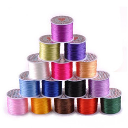 Wholesale Clear Elastic Cord - 1pcs Crystal Beads Elastic Clear Beading Cord String Jewelry Crafts DIY Making Thread 10M