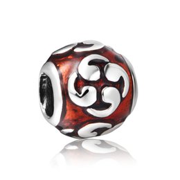 Wholesale Zen Jewelry Wholesale - 925 sterling Silver charms brown Enamel Zen beads for women Bracelets necklaces silver jewelry Making X249