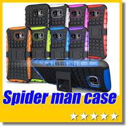 Hybird fall für iphone online-Für SAMSUNG Galaxy S6 Spider Man Hybird Fall Kickstan Heavy Duty Durable TPU PC Kasten für Samsung Galaxy S5 S4 S6 Kante Hinweis 3 4 iPhone 6 Plus