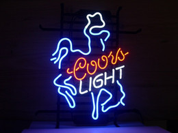 Wholesale Coors Light Signs New - New Cowboy Coors Light Neon Light Sign Beer Bar PubNeon Sign c67