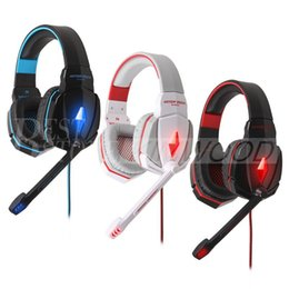 Wholesale Anti Noise - EACH G4000 Pro Headphones Stereo Gaming Headset Anti-Noise Headphones with Mic Headband Volume Control for PC Games 002994