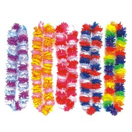 Wholesale Wholesale Cheerleading Products - flower artificial Hawaii Wreath Silk Flower Lei Party Supplies Garland Cheerleading Products Hawaii Necklace Manufacturer HH0023