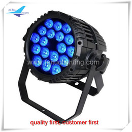 Wholesale Rgbaw Led Lights - 4pcs per lot 18x18w rgbaw uv waterproof led par light or waterproof outdoor par can
