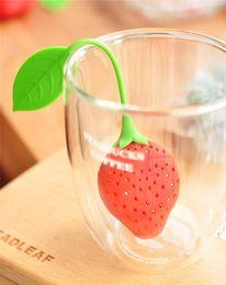 Hygiène bucco-dentaire rouge fraise forme silicone thé infuseur crépine de silicone sac de remplissage de thé sac boule boule théière tasse théière filtre ? partir de fabricateur