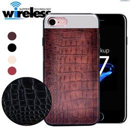 Wholesale Iphone Crocodile Leather Luxury - For Iphone Phone Case for iPhone X Luxury 4 colors Vintage Crocodile pattern PU leather and PC and TPU edge Back cover for iPhone 6 7 8 plus