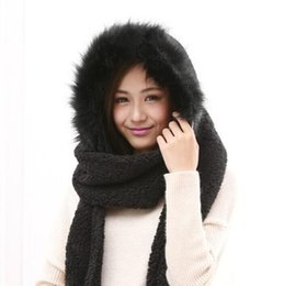 Wholesale Hat Scarf Glove Sets Women - Wholesale-2015 New Fashion Women Scarf Set Thick Warm Hat Scarf and Gloves Set Winter Hats Scarfs Sets with Pockets Women's Hats