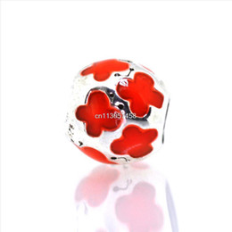 Wholesale Round Amber Beads - New Amber Accessories Butterfly Design 925 Sterling Silver European Bead Charm Girl Woman Gift Jewelry Snake pandora Bracelet Chain 1pcs up