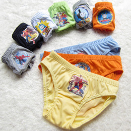 Wholesale Kids Boys Underwear - 3T-12T boy underwear, pure cotton cartoon Kids underwear Mixed wholesale