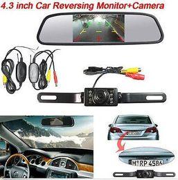 "Wholesale night vision wireless camera system - Wireless Auto 4.3"" car Backup Mirror Monitor System IR Night Vision Backup Camera"