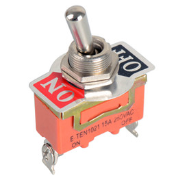 Wholesale 12v Metal Switch - 12V Electronic Components Heavy Duty Toggle Flick Switch ON OFF Car Dash Light Metal SPST Switches VE063