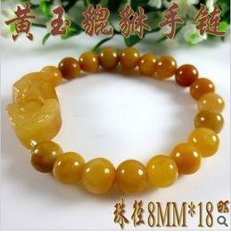 Wholesale Natural Citrine 8mm - 8mm natural citrine meaning pixiu bracelets quartz crystal beaded bangles jewelry charm chinese pi xiu yellow citrine bracelet