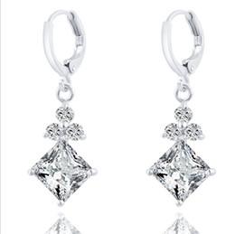 Wholesale Gia Certificate Diamond - US GIA certificate 2 ct earrings for women Emulational Diamond earring wedding earring Lovers Gift Gemstone earrings
