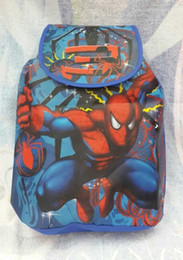 Wholesale Spiderman Party Bag Wholesalers - Wholesale 12pcs Classic Spiderman Children drawstring bag Cartoon Backpack Party Gift
