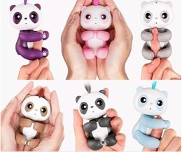 Wholesale Finger Eyes - Finger Panda React to Sound Motion Touch Blink Eyes Turn heads Blow Kisses Talk in Panda Babble Interactive Baby Pandas Toys Monkey Unicorn