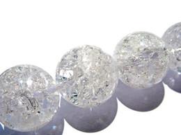 Wholesale White Quartz Loose Beads - genuine rock quartz bead 4 6 8 10 12 14 16mm full strand Gem Round Ball cracked clear white mixed loose bead