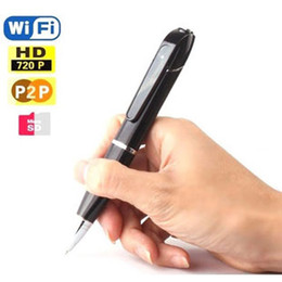 Wholesale H 264 Pen - 720P HD Wireless WiFi IP Hidden Pen Video Camera for Android and IOS, H.264 Mini WiFi Pen With Built-in Camera DVR