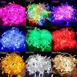 Wholesale Cake Plates Wholesale - Weding Decoration LED Wedding Light Wedding Party Light 100 LED 10M Multicolor String Fairy Lights Christmas Wedding Garden Party Xmas