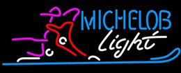 "Wholesale Place Boots - Michelob Light Snow Ski Boot Neon Sign Handmade Real Glass Store Beer Bar KTV Club Pub Advertising Display Neon Signs 19""x12"""