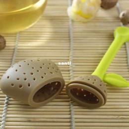 Té de pera online-Nuevo Llega Silicona Pera Diseño Tea Leaf Colador Herbal Spice Infuser Teacup Tetera Filtro