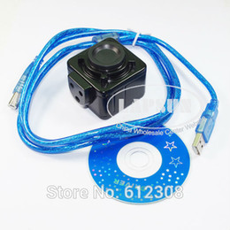 """Wholesale Industry Cmos - Wholesale-USB500 5.0MP HD 1 2.5"""" Big Size CMOS Digital Industry C-mount Microscope Camera Magnifier USB Video Output for PCB Lab New"""