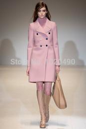 Wholesale Winter Trenchcoat - Wholesale-Catwalks Luxury Women Long Double Breasted Coat Fashion Winter Wool Trenchcoat W4245