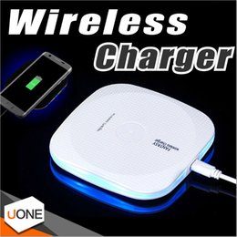 Wholesale Qi Wireless Charger Universal - Fast Wireless Charger Qi Wireless Charger Charging Pad with Anti-Slip Rubber for iPhone 8 Plus X Samsung Note 8 S8 Plus Qi-Enabled Devices