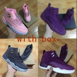 Wholesale Height Increase Sport Shoes - With box 12 Bordeaux Dark Grey Basketball Shoes Men Sport Shoe Bordeaux 12s Sports Athletic Trainers High Quality Sneakers