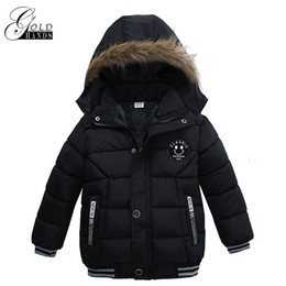 Wholesale Children S Coat Jacket - Winter Boys Jacket For Boys Thicken Hooded Clothes Baby Boy Coat Kids Jacket Children Outerwear Fashion Warm Thickening Coats