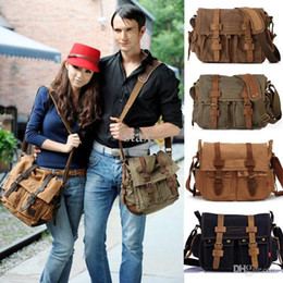 Wholesale Military Phone Covers - Wholesale-HOT Canvas crossbody bag men,I AM LEGEND Will Smith military army vintage Canvas messenger bags laptop canvas satchel men HF2138