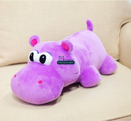 Wholesale Giant Eyes - Dorimytrader Hoffman New Work! 31''   80cm Giant Stuffed Plush Big Eye Hippo Toy, 3 Colors and Nice Baby Gift, Free Shipping DY60429