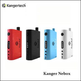 In stock Authentic Kanger NeBox Starter Kit con scatola elettronica da 10 ml di grande capacità Ni box mod TC 60w eGrip v2.0 kit da kit di avviamento nebox fornitori
