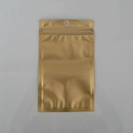 """Wholesale Plastic Zip Lock Bag 15cm - Wholesale 9*15cm (3.5*5.9"""") Golden   Clear Self Seal Zipper Plastic Retail Package Packaging Bag Zip Lock Bag Retail Packing W  Hang Hole"""