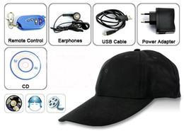 Wholesale Baseball Cap Spy Camera - 8GB 1280*720P cap camera Baseball Cap hidden camera,Hat Mini DV,DVR Cap spy camera,Camcorder Video Recorder Remote Control PQ107